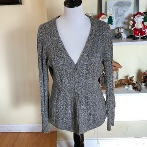 *466 Dress Barn Button Down Cable Knit Cardigan